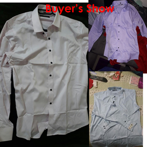 Image 2 - Mannen Bamboevezel Jurk Shirts Casual Slim Fit Lange Mouw Man Sociale Shirts Comfortabele Niet Ijzer Effen Chemise Homme blauw
