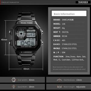 Image 3 - SKMEI Top Luxury Fashion Sport Watch Men 5Bar Waterproof Clock Casual Brand Electronic Mens Watches Digital Wristwatch Male