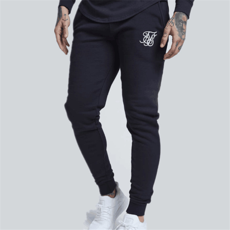 2019 Brand  Mens Fitness Casual Pant Sweatpants Male Joggers Bodybuilding Workout Drawers Trousers Elastic Cotton Long Pants