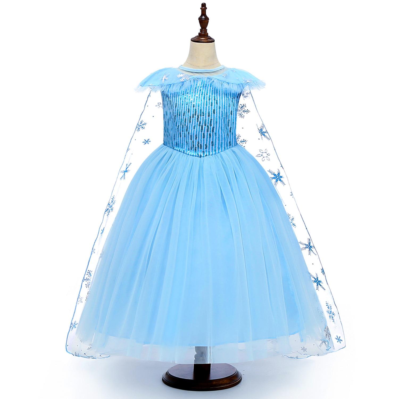 Disney Elsa Princess Girls Dress Kids Dresses For Girls Christmas