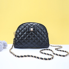 YBYT new fashion bow women shoulder bags diamond lattice flap female crossbody PU leather chain bag bolsas feminina