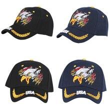 Embroidery Double Eagle USA Flags Baseball Cap Men Women Dad Curved HatsSnapback Streetwear European Fashion Casual Suncaps