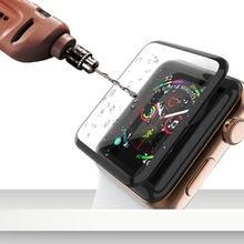 Закаленное 3d стекло с изогнутыми краями для apple watch series