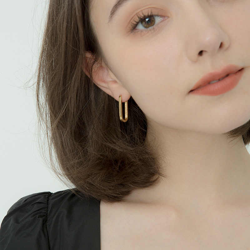 10 18kゴールドガーネットのイヤリングaretesデmujer oorbellenジュエリービジューファムorecchini bizuteria 10 18kゴールドゴールドイヤリング女の子