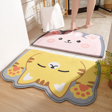 Cartoon Modeling Bath Mats Non-slip Bathroom Carpet,antiskid Mat Toilet Tapete Water Absorption Banheiro Rug Carpets Flannel Mat