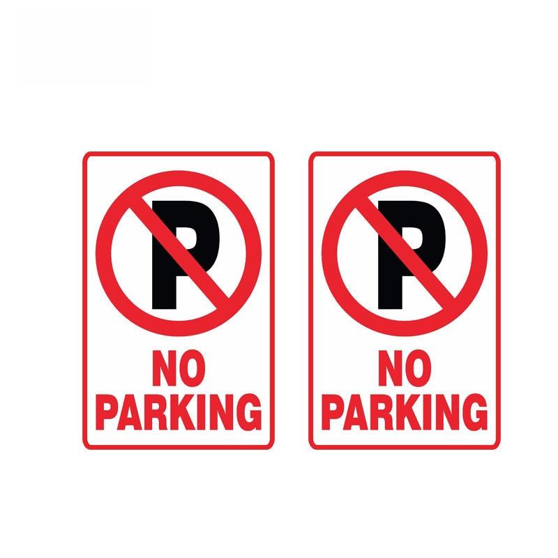 2 X Предупреждение нет парковки автомобиля Стикеры Водонепроницаемый отражательный смешной наклейка автомобилей мотоциклы аксессуары ПВХ,...