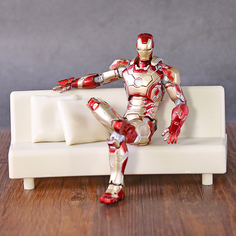 Shfiguarts Iron Man Mark 42 With Sofa  Pvc Action Figure Collectible Models Toys