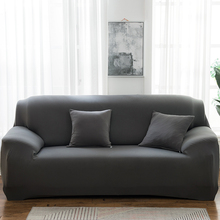 Solid Color Sofa Covers for Living Room Polyester Modern Elastic Corner Couch Cover Slipcovers Chair Protector 1 2 3 4 Seater cheap Housmife CN(Origin) 90-140cm 145-185cm 190-230cm 235-300cm Plain Dyed Three-seat Sofa Polyester Cotton As Photos Show