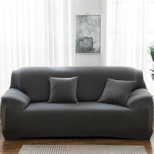 Image 1 - Solid Color Sofa Covers for Living Room Polyester Modern Elastic Corner Couch Cover Slipcovers Chair Protector 1/2/3/4 Seater