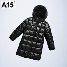 Veste dhiver à capuche et légère pour garçons, vêtements longs pour filles, manteau dextérieur pour adolescents à la mode, A15, 2019