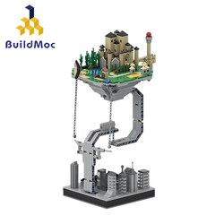 BuildMOC Creator Castle скульптуры подвесные гравитационные строительные блоки динамическая физика баланс новые кирпичи игрушки для детей