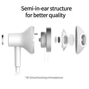 Image 2 - Lenovo DP20 basse son écouteur dans loreille Sport écouteurs avec micro pour Lenovo Xiaomi Samsung iPhone MP3 filaire contrôle HiFi écouteurs