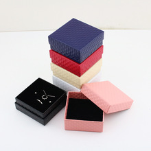 7.5*7.5 Red/Blue/Buff/Black/Pink/White Paper Square Jewelry Box Package GIft Box for Necklace Bracelet Earrings Fashion Jewelry