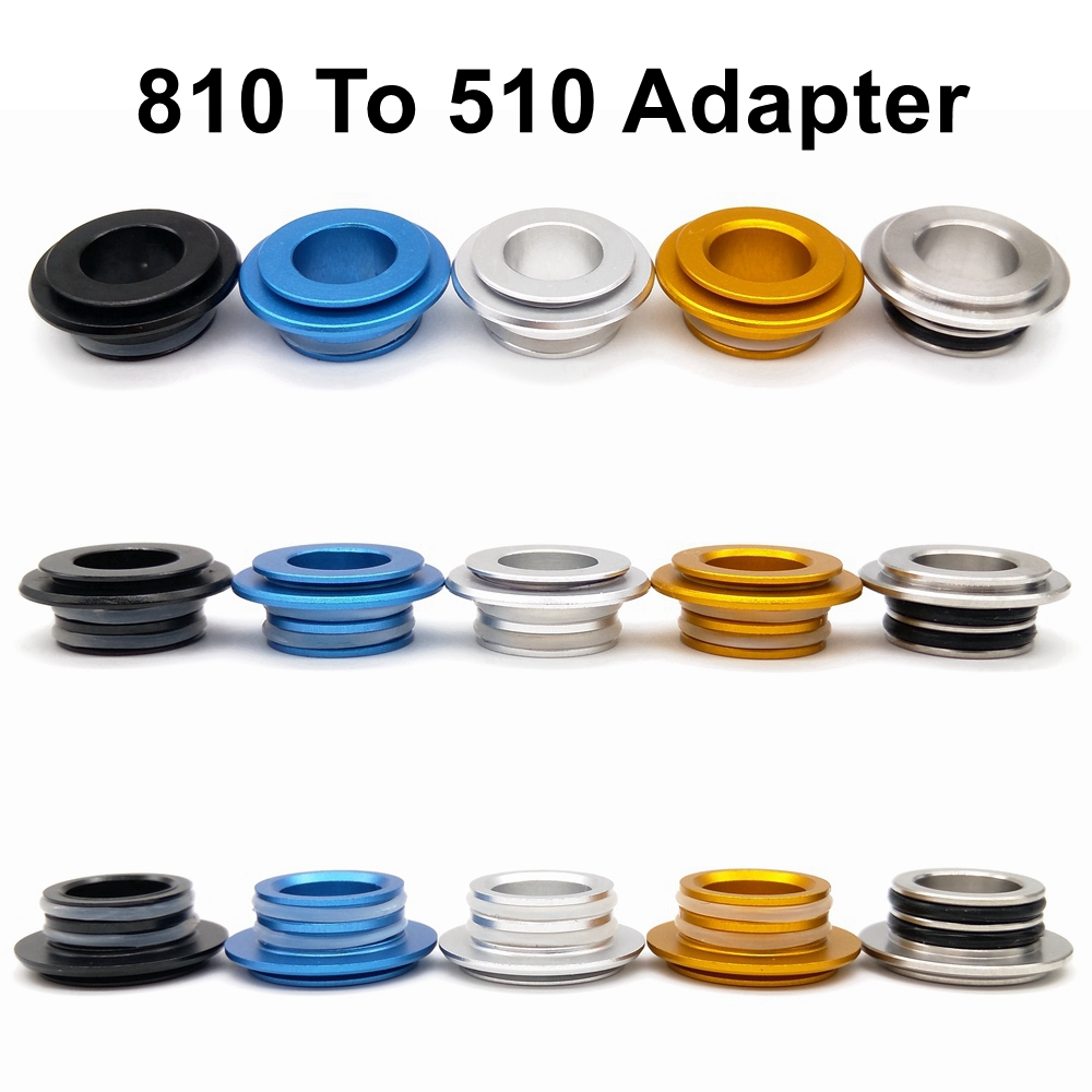 810 To 510 Drip Tip Adapter MTL For 510 Drip Tip For 810/528 RDA RTA RDTA Atomizer Tank Vape Accessories Connector