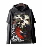 Anime Black Butler Ciel Phantomhive Hoodies 3D Gedruckt Pullover Sweatshirt Jacken Casual Outfit Mantel Kleidung