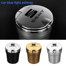 Ashtray Cigarette-Dustbin Car-Logo Seat Fr ALTEA Creative Leon Mk3 Led-Lights Lbiza