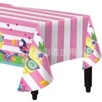 2019 Hawaii Tropical Rain Forest Birthday Party Set Cartoon Pineapple Flamingo Theme Tableware