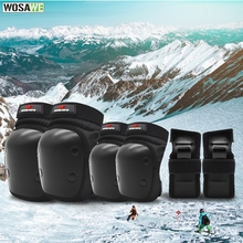 WOSAWE Motocross Kids Protective Gear Knee Pads Elbow Waist Support Shockproof Adjustable Outdoor Sports Snowboarding