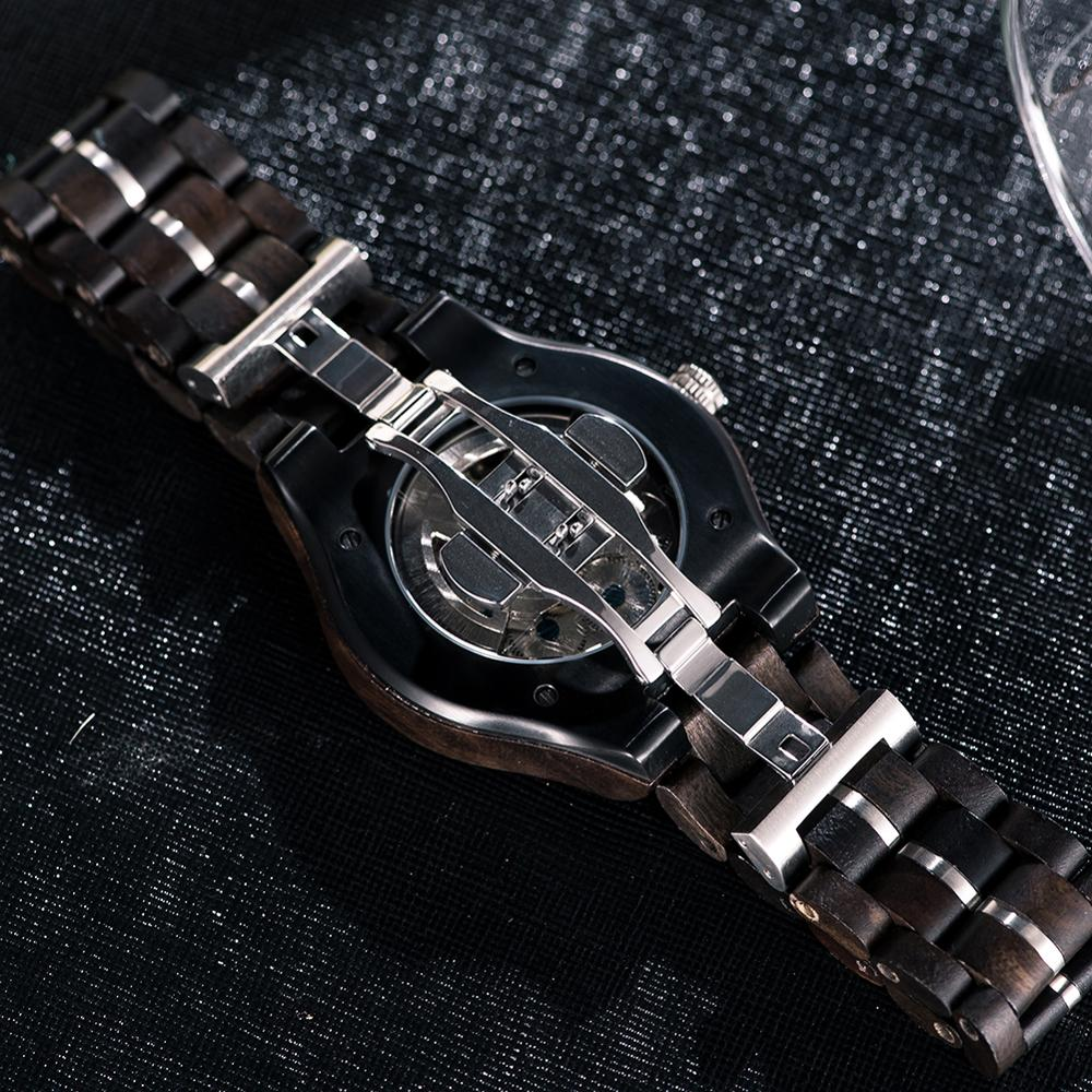 elojes para hombre BOBO BIRD Wood Automatic Watches for Men Top Brand Luxury Wristwatches orologi uomo automatico Drop Shipping