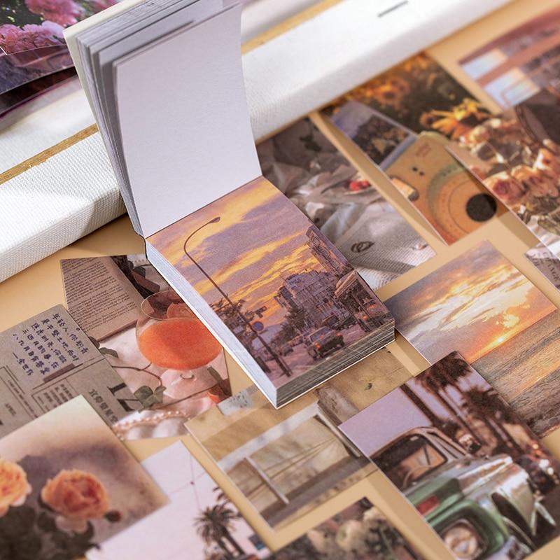 Теплый 50 шт./лот INS природный пейзаж канцелярские наклейки Эстетическая книга для путешествий Милая ручная работа дневник Ablum цилиндрически...
