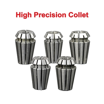 ER11 collet 1/8 inch 65M stuff super high precision 0.008mm 1MM 2MM 3MM 4MM 5MM 6MM 7MM 3.175MM For CNC Engraving Machine Lathe high quality 1pc 12 7mm to 6mm 1 8 inch precision engraving bit cnc router tool adapter for collet wear resistance best price href page 4 page 3