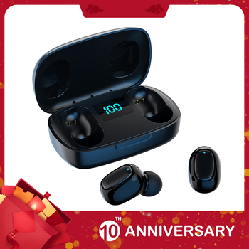 цена на KIITO E14 Bluetooth V5.0 Earphone Stereo Wireless Headphones Sports Waterproof Bluetooth Headsets Charging Box With Microphone