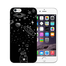 Universe Series Phone Case For iphone X Case For iphone 6 6S 7 8 Plus 5S SE Fashion Cover Cute Planet Moon Star Cases for iphone 6s case for iphone 6 macaron phone bag cases silicone case for iphone 5 5s se 6 6s 7 8 plus case cover for iphone 6