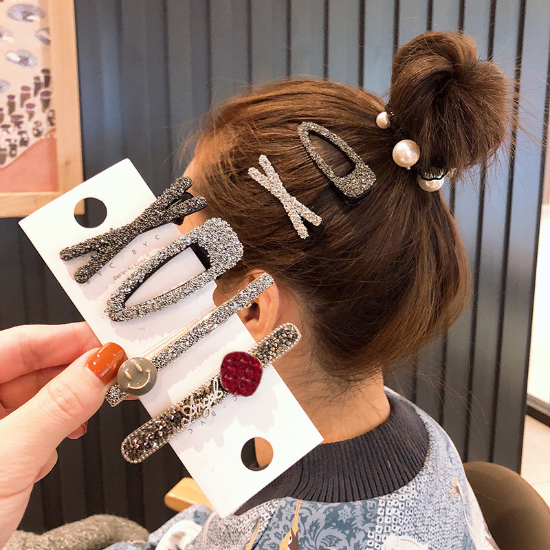 2020 Fashion Elegant Shiny Rhinestones Hairpins Women Girls Hair Clips Accessories Hair Ornaments Hairclip Barrettes Headdress