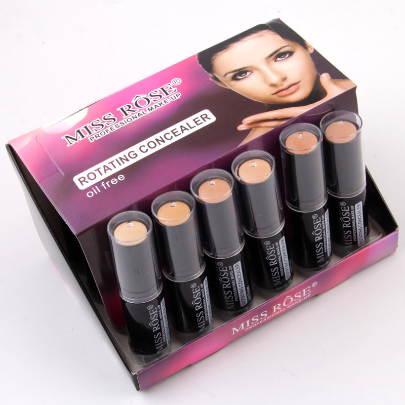 Makeup Rotating Concealer Box Face Base Perfect Covers Concealer Foundation Oil Free Waterproof Matte Wear Concealer Stick - 3