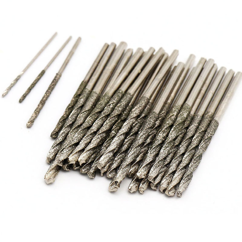 1pcs 0.8-2.5mm Diamond Drill Bits Twist Drill Bits Hole Drilling Tools For Glass Tile Stone Diamond Glass Tile Stone Tipped Hole