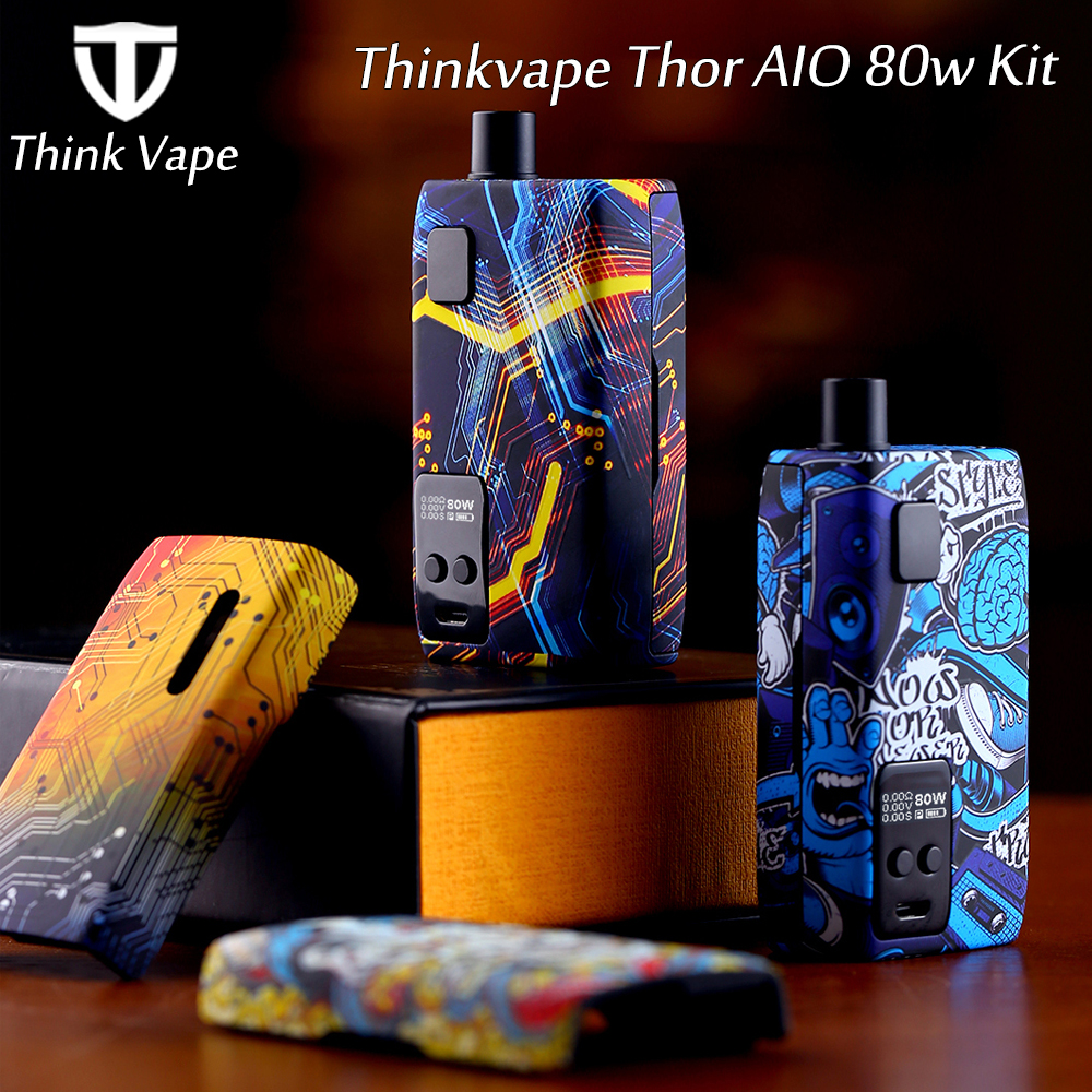 Thinkvape Thor AIO 80W Vape Kit Powered By Single 18650 Battery With Max 80W Output&3ml Capacity Pod Mod Vape Kit VS Thor Pro