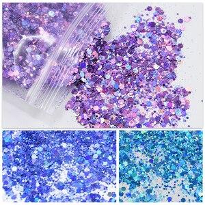 Image 1 - 500 g/zak Shiny Glitter Poeder Sparkles Matte Nail Pailletten Pailetten Nail Art Decoraties Nail Vlokken Manicure Glitter FT43New