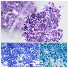 500g/Bag Shiny Glitter Powder Sparkles Matte Nail Sequins Paillettes Nail Art Decorations Nail Flakes Manicure Glitter FT43New