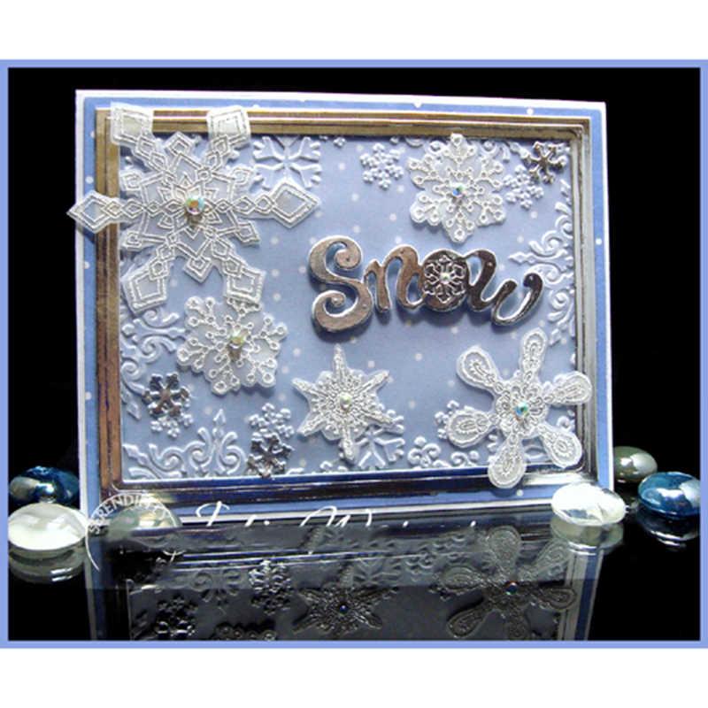 وصل حديثًا لعام 2019 قطع معدنية من الثلج مزخرفة على شكل قصاصات استنسل للحرف اليدوية يمكنك صنعها بنفسك