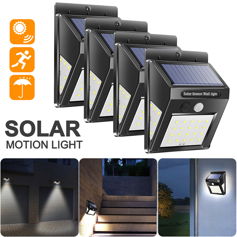 100 LED Solar Light Outdoor Solar Lamp PIR Motion Sensor Wall Light Waterproof Solar Powered Lamp For Garden Decoration Home