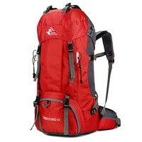 Caballero libre 60L Camping senderismo mochilas bolso al aire libre mochilas para turistas de Nylon bolsa de deporte para la escalada viajar con cubierta de la lluvia