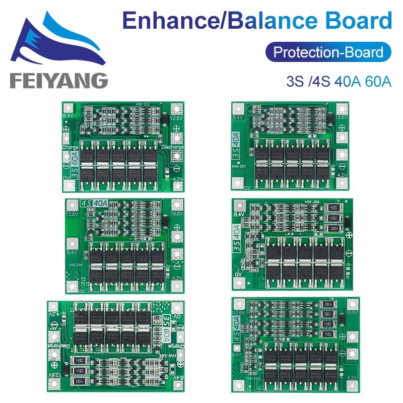 4S 40A литий-ионная литиевая батарея 18650 зарядное устройство PCB плата защиты BMS с балансом для электродвигателя 14,8 V 16,8 V Lipo Cell Module