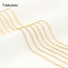 14k real ouro chapeado corrente para fazer jóias 1.2mm 1.6mm 2.0mm fina corrente atacado artesanal diy jóias descobertas