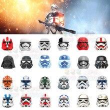 Holográfico soldado imperial 501st legion coruscant guarda ação tijolos figuras cabeças filme série blocos de construção brinquedos para crianças