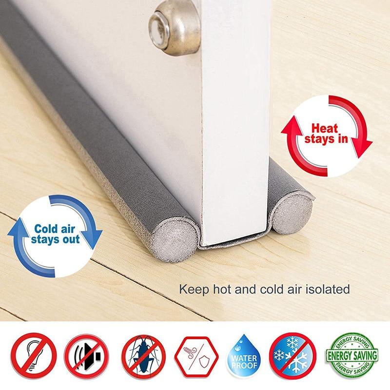 Home 93cm Under Door Draft Guard Stopper Soundproof Reduce Noise Door Bottom Sealing Weather Strip Under Door Draft Guard 2021-0