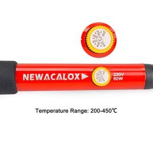 Image 4 - NEWACALOX 60W EU/US Electric Digital Display Soldering Iron Kit Adjustable Temperature Repair Welding Tool Digital Multimeter
