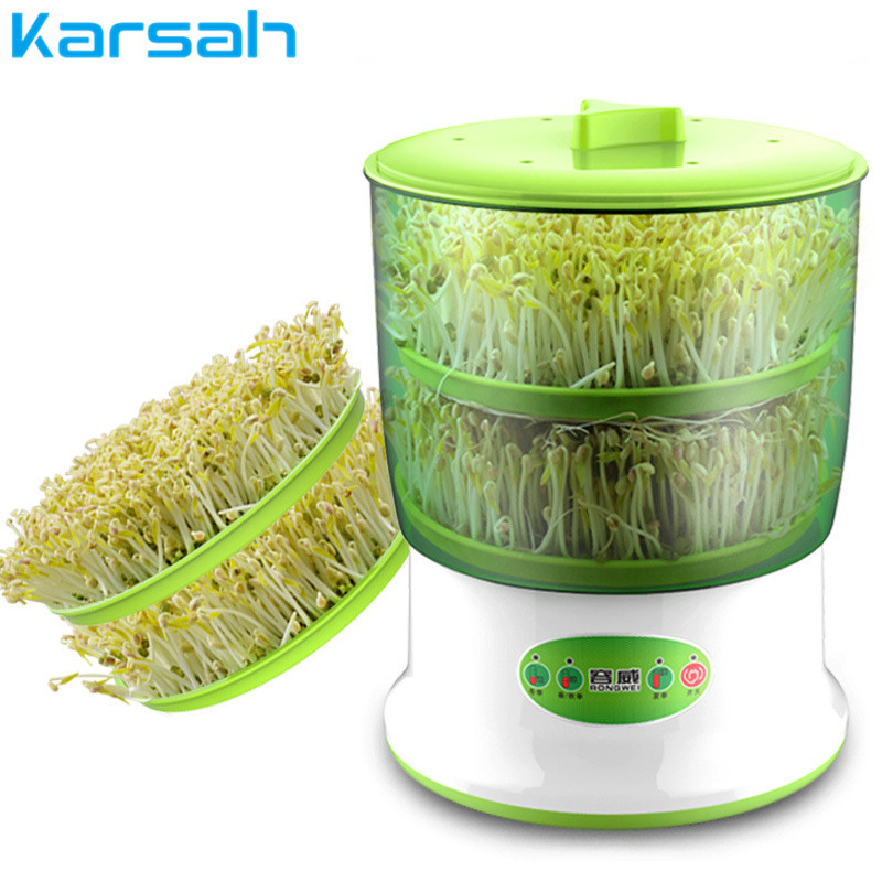 Portable Home Use Intelligence Bean Sprouts Machine Thermostat Green Seeds Growing Automatic Bean Sprout Machine Large Capacity