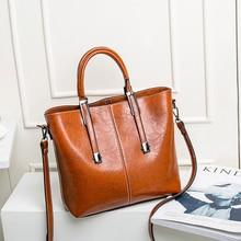 цена на Autumn Winter Large Capacity Handbags Bags For Women Vintage Leather Luxury Handbags Women Bags Designer Shoulder Crossbody Bag