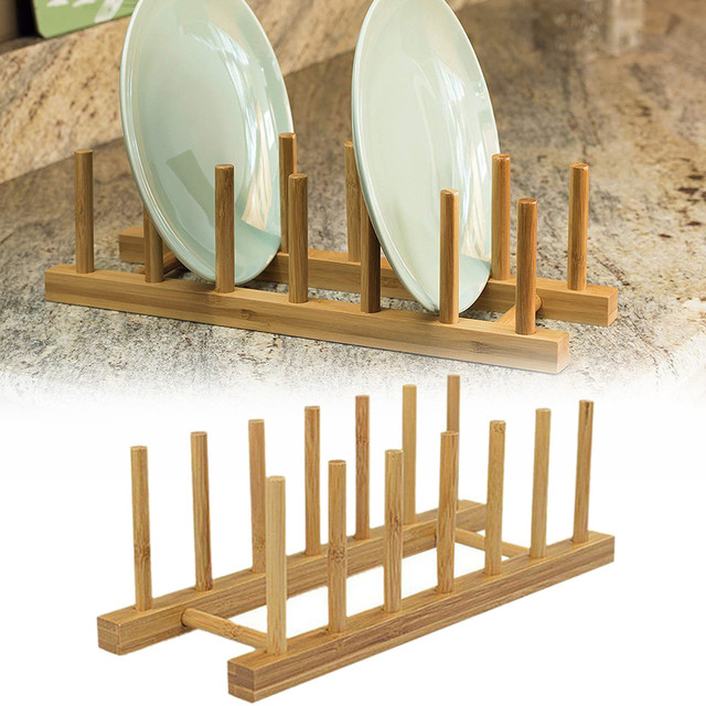 Bamboo Dish Rack Dishes Drainboard Drying Drainer Storage Rack Kitchen Cabinet Organizer Accessories Bowl Dish Shelf