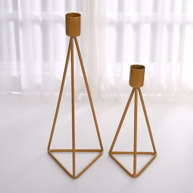Geometric Candlestick Tealight Candle Holder Stand Wedding Party Decor 2