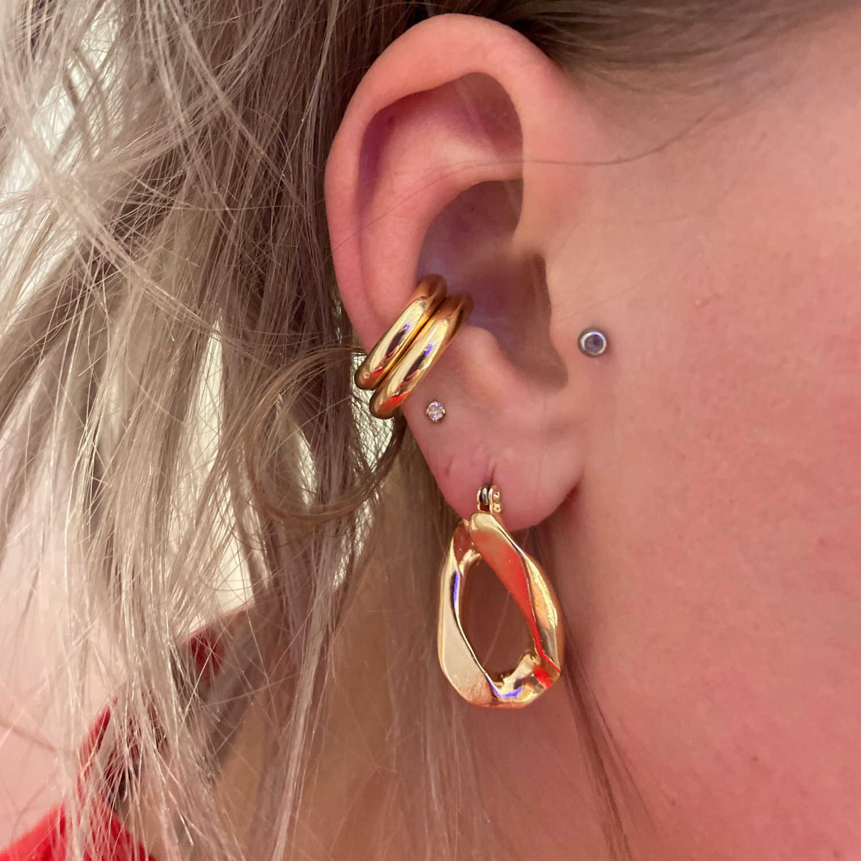 Piercing Ohrring Pearl Ear Clip CZ Handschellen Ohrringe Ohrfessel aus Zircon