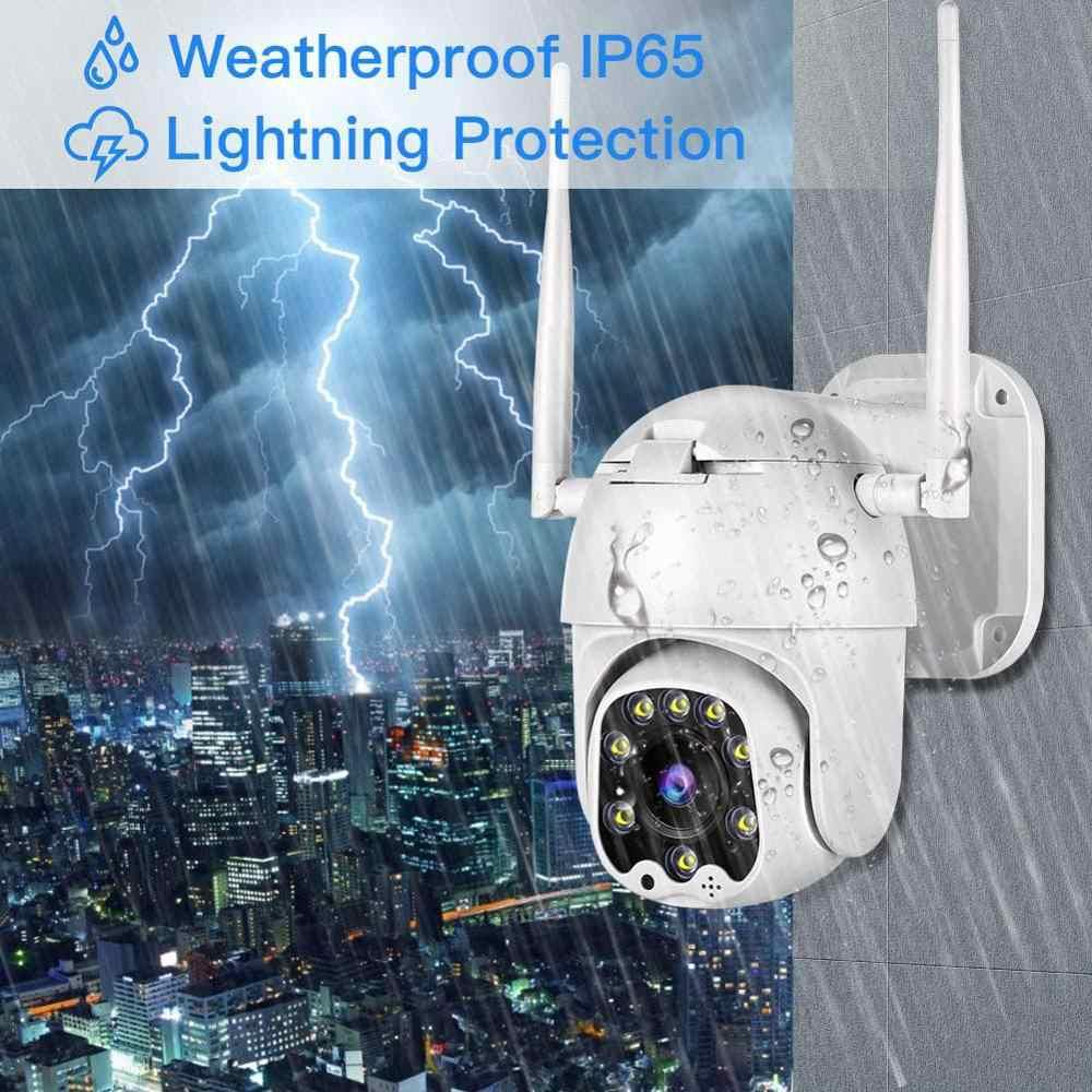 Ip-камера, Wifi, 1080 p, уличная, 4x Zoom, 2MP, камера безопасности, сетевая, CCTV, скоростная, купольная, беспроводная камера с сиреной, светильник