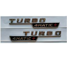 Krom TURBO 4MATIC + amblemler amblemler A45 A35 CLA45 GLA45 AMG