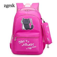 Cute School Backpack And Purse Large Bagpack Cat Print College Book Bag Rucksack High School Bags For Teenage Girls Mochila