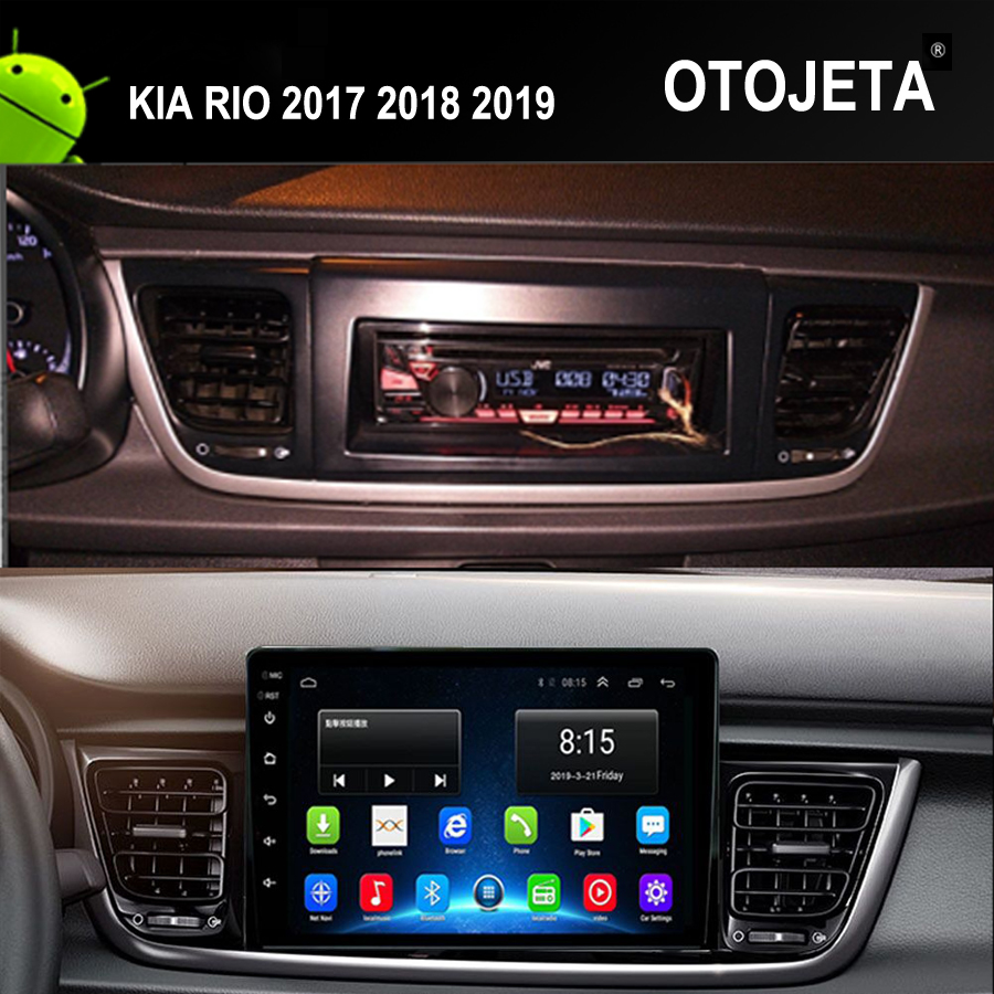 Wifi Network Connection 10.1 Full touch Smart MG Car GPS for KIA RIO 2017 2019 Android 9.1 Car Radio auto Navigation Multimedia image